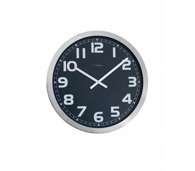 Fisura nástěnné hodiny Station Black 45cm + DOPRAVA ZDARMA