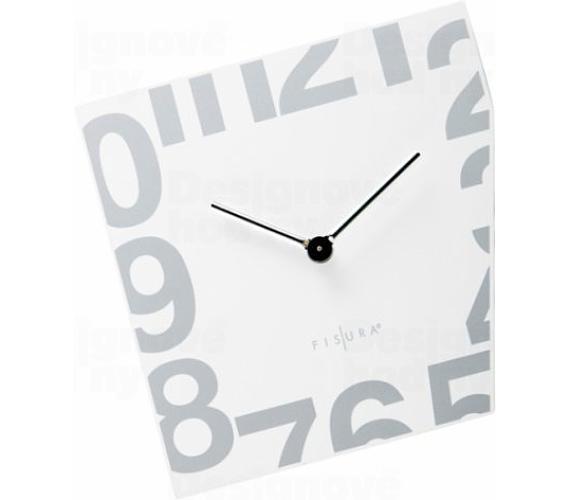 Fisura nástěnné hodiny Esquina White 21cm + DOPRAVA ZDARMA