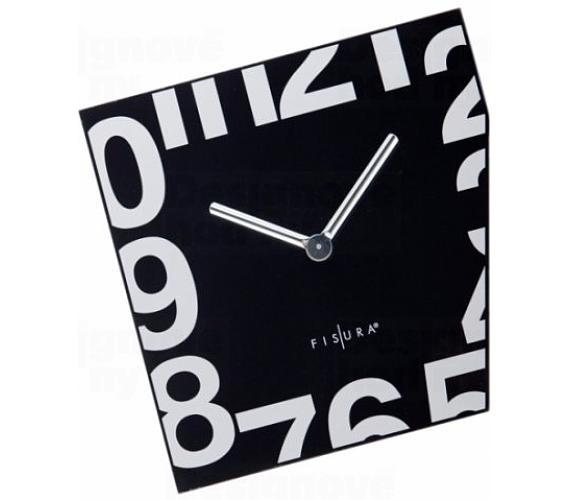 Fisura nástěnné hodiny Esquina Black 21cm + DOPRAVA ZDARMA