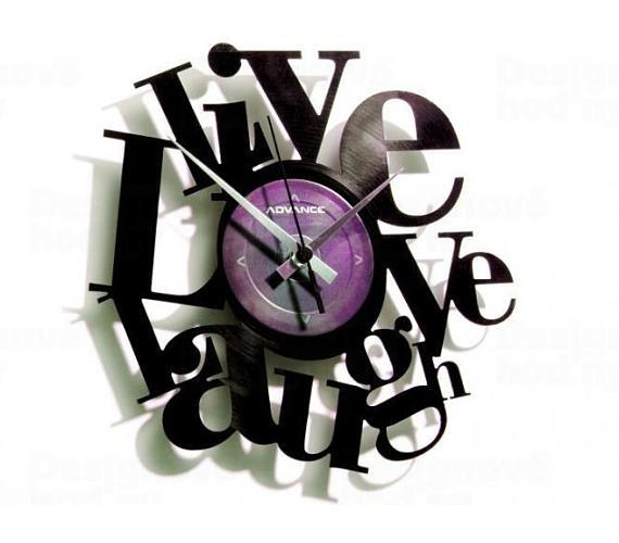 Discoclock 007 Live Love Laugh 30cm + DOPRAVA ZDARMA