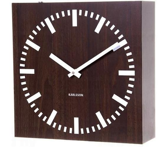 Oboustranné nástěnné hodiny 5529 wenge 30cm + DOPRAVA ZDARMA
