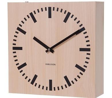 Oboustranné nástěnné hodiny 5528 natur 30cm + DOPRAVA ZDARMA