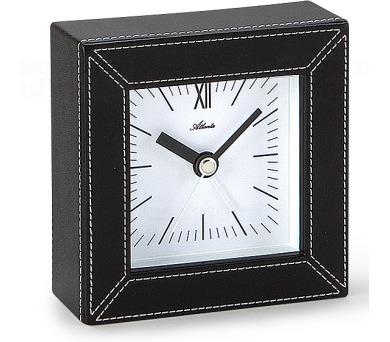 Designové kožené stolní hodiny-budík AT3049 + DOPRAVA ZDARMA
