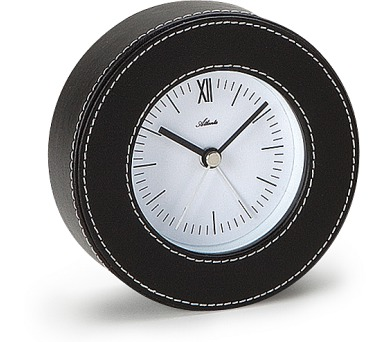 Designové kožené stolní hodiny-budík AT3048 + DOPRAVA ZDARMA