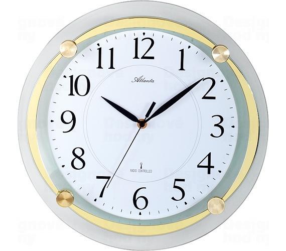 Designové nástěnné hodiny AT4297-9 řízené signálem DCF + DOPRAVA ZDARMA