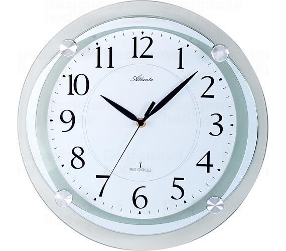 Designové nástěnné hodiny AT4297-19 řízené signálem DCF + DOPRAVA ZDARMA
