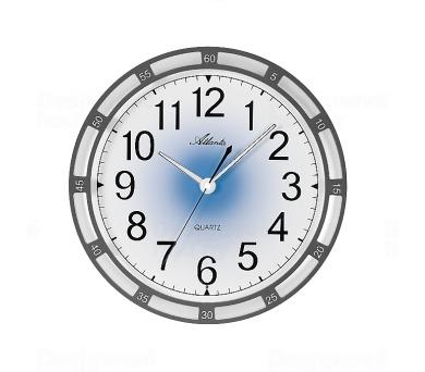 Nástěnné hodiny AT4458-4 s automatickým nočním LED podsvětlením + DOPRAVA ZDARMA