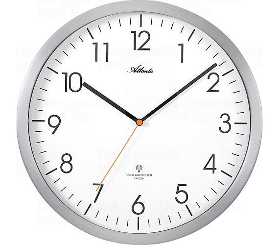 Designové nástěnné hodiny AT4382-4 řízené signálem DCF + DOPRAVA ZDARMA