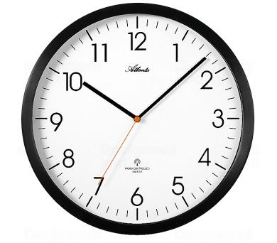 Designové nástěnné hodiny AT4382-7 řízené signálem DCF + DOPRAVA ZDARMA