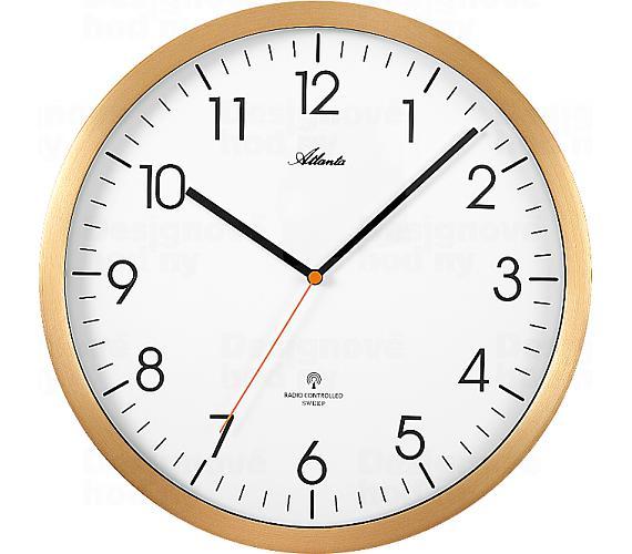 Designové nástěnné hodiny AT4382-9 řízené signálem DCF + DOPRAVA ZDARMA