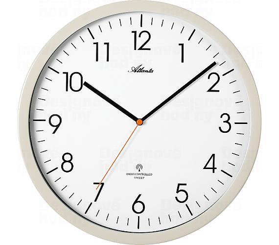 Designové nástěnné hodiny AT4382-0 řízené signálem DCF + DOPRAVA ZDARMA