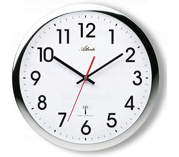Designové nástěnné hodiny AT4219-19 řízené signálem DCF + DOPRAVA ZDARMA