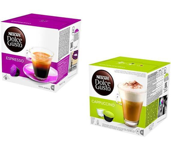 SET Kapsle NESCAFÉ Espresso 16 ks k Dolce Gusto + Kapsle NESCAFÉ RISTRETTO ARDENZA 16 ks Dolce Gusto + Kapsle NESCAFÉ Cappuccino 16 ks k Dolce Gusto
