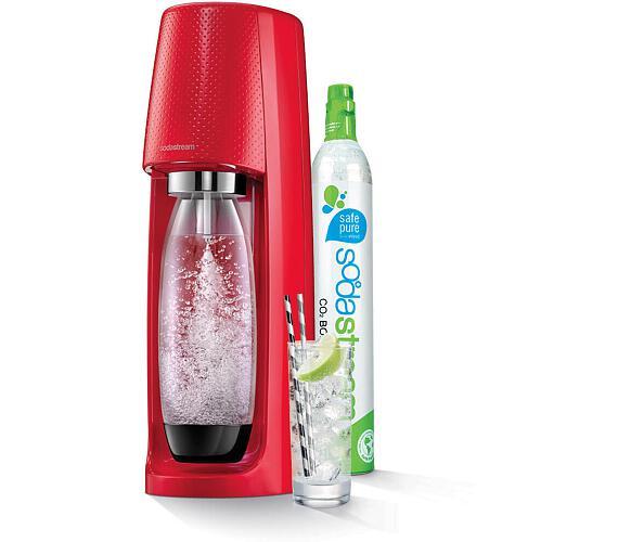 Spirit Red výrobník perlivé vody SODA SodaStream + DOPRAVA ZDARMA
