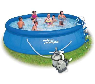 Bazén Tampa 4,57x1,22 m + Písková Filtrace Sand 4 SET ( 2 kart.) + DOPRAVA ZDARMA