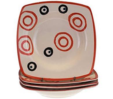 Sada keramických hlubokých talířů square COLORÉ