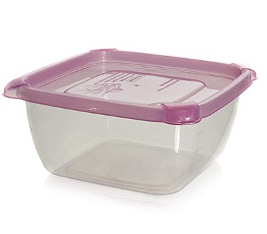 BANQUET Dóza plastová 1,5 L s barevným víčkem