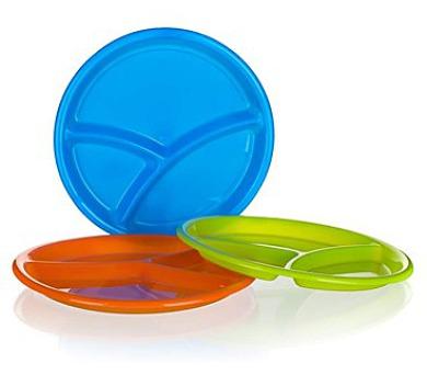 Talíř plastový dělený 25,5 x 2,3 cm
