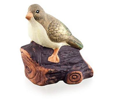 Zvířátka terakotová - pták na dřívku
