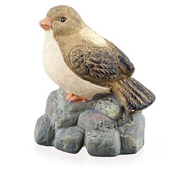 Zvířátka terakotová - pták na kameni