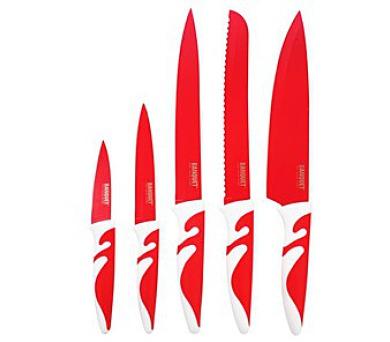 BANQUET Sada nožů s nepřilnavým povrchem SYMBIO NEW Rosso