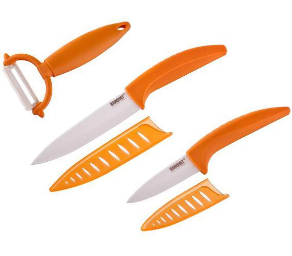 BANQUET Sada keramických nožů GOURMET CERAMIA Arancia