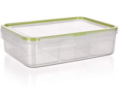 BANQUET Dělená dóza na potraviny SUPER CLICK 2,1 L zelená