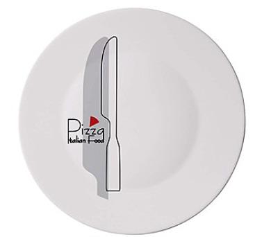 BORMIOLI Talíř skleněný pizza KNIFE 33 cm