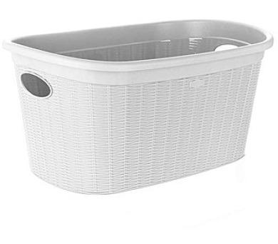 Koš na čisté prádlo 35L bílý