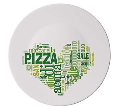 BORMIOLI Talíř skleněný pizza I LOVE PIZZA GREEN 33 cm