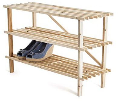 Botník dřevěný 26 x 74 x 48,5 cm
