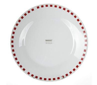 Talíř porcelánový dezertní CUBITO Red 19 cm