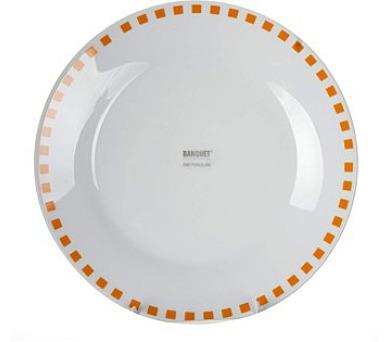 Talíř porcelánový dezertní CUBITO Orange 19 cm