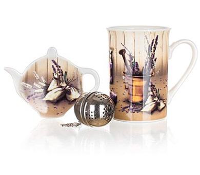 BANQUET Sada na čaj keramická LAVENDER