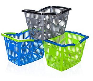 Košík nákupní plastový 38,5 x 28 x 25 cm