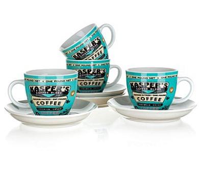 BANQUET Sada šálků s podšálkem COFFEE 180 ml