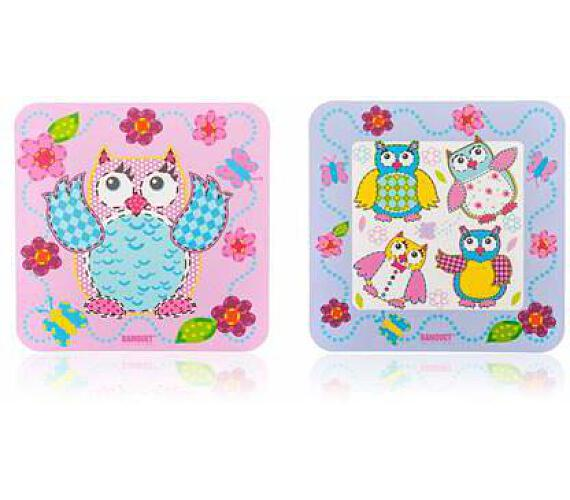 BANQUET Sada plastového prostírání OWLS 10 x 10 cm