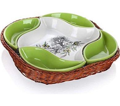 BANQUET Mísa v košíku OLIVES 28 cm + DOPRAVA ZDARMA