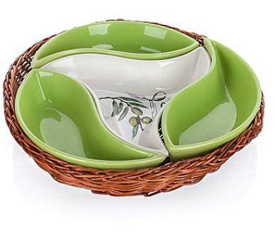 BANQUET Mísa v košíku OLIVES 23 cm