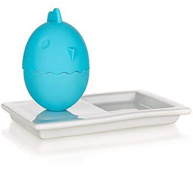 BANQUET Kalíšek na vajíčka s talířkem COLOR PLUS Blue 13,8 x 8,8 cm