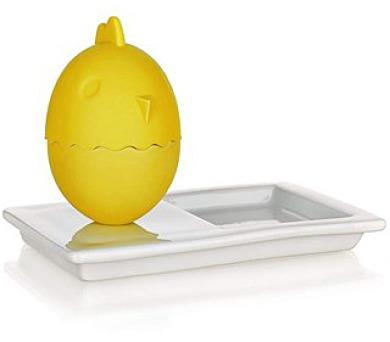 BANQUET Kalíšek na vajíčka s talířkem COLOR PLUS Yellow 13,8 x 8,8 cm