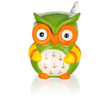 BANQUET Cukřenka keramická se lžičkou OWL 200 ml