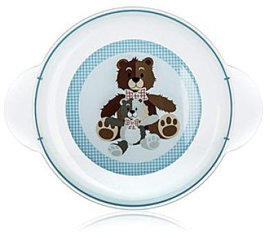 BANQUET Dětský plastový mělký talíř 234x183x24 mm