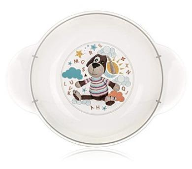 BANQUET Dětský plastový hluboký talíř 208x158x44 mm
