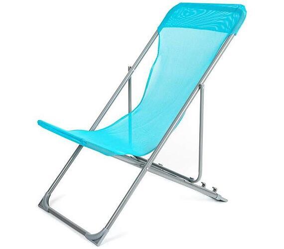 Křesílko plážové Happy Green CARIBIC světle modré