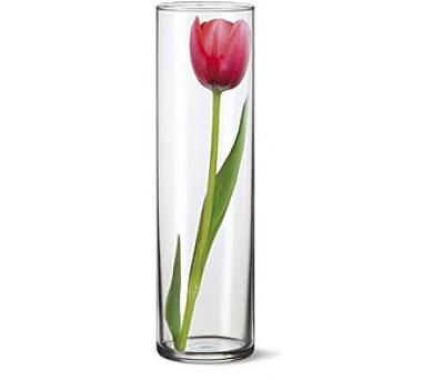 Váza skleněná DRUM II 27,5 x 8,4 cm