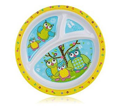 Talíř melaminový dělený OWLS 21 cm
