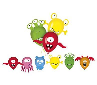 Balonky nafukovací latexové MY PARTY Monsters