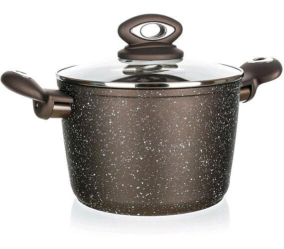 BANQUET Kastrol s nepřilnavým povrchem PREMIUM Dark Brown 20 x 13,5 cm