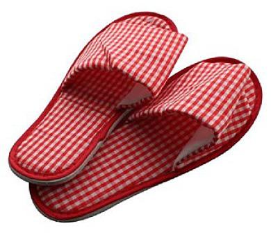 Pantofle domácí káro dámské (26-28 cm) a pánské (29-32 cm)